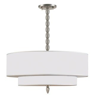 Crystorama Luxo Collection 5-light Satin Nickel Chandelier