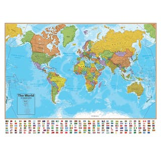 Hemispheres 38 Inch Blue Ocean Series World Wall Map|https://ak1.ostkcdn.com/images/products/13160936/P19886538.jpg?impolicy=medium