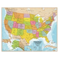United States 32 Inch Wall Chart with Interactive App