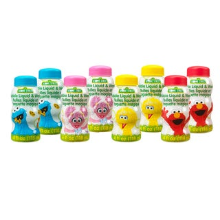 8 Pack Sesame Street 4 Fluid oz of Bubbles with Wands