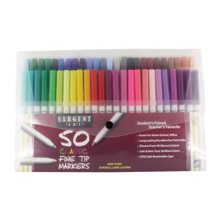Sargent Art 50 Count Fine Tip Classic Markers