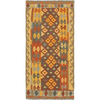 eCarpetGallery Hand-woven Kashkoli Kilim Multicolor Wool Rug (3'3 x 6'8)