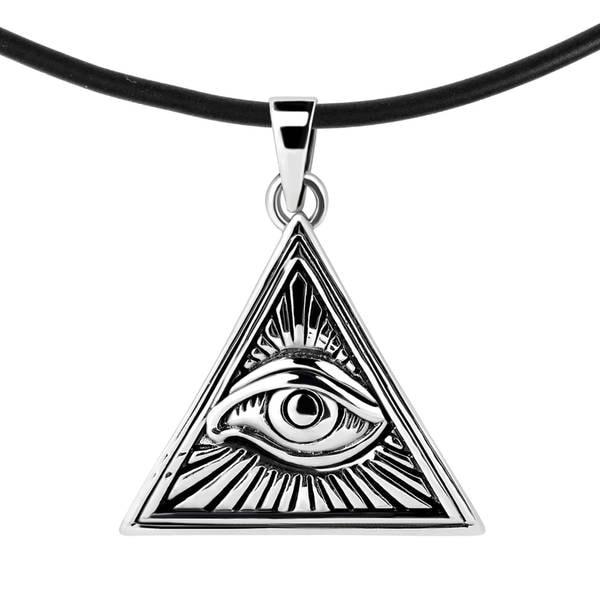 Shop Handmade All Seeing Eye Illuminati Triangle Sterling Silver