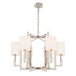 Crystorama Dixon Collection 6-light Polished Nickel Chandelier