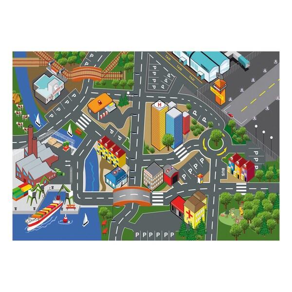 40 Inch Play Carpet Playmat Vehicle Playset
