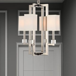 Crystorama Dixon Collection 4-light Polished Nickel Chandelier