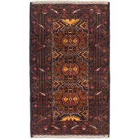 eCarpetGallery Rizbaft Blue/Brown Wool Hand-knotted Rug (3'7 x 6'0)
