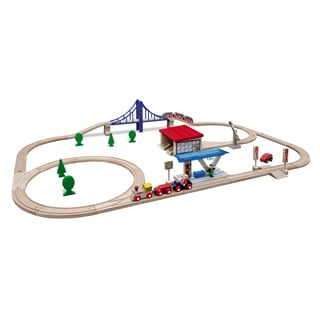 Eichhorn 58 Piece Large Wooden Train Set