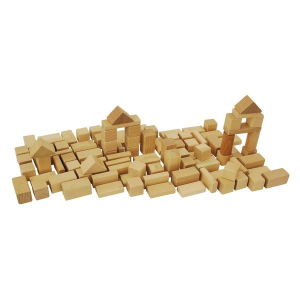 Heros 50 Piece Natural Wooden Blocks Set