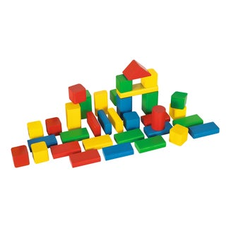 Heros 50 Piece Color Wooden Blocks Set