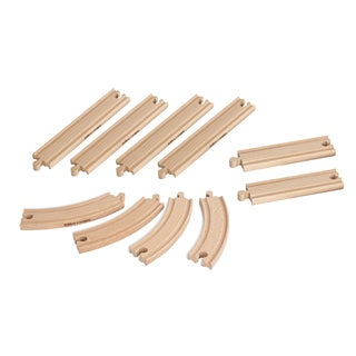 Eichhorn 10 Piece Wooden Train Track Set