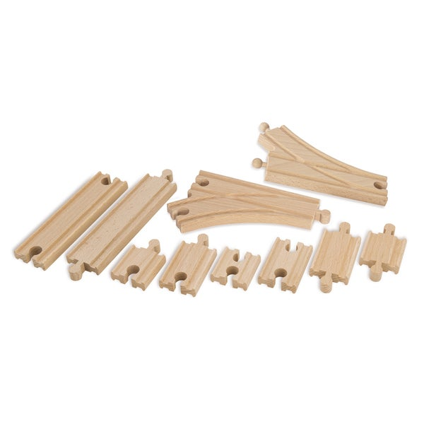 Eichhorn 10 Piece Wooden Train Track Expansion Set