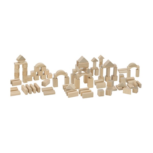 Heros 100 Piece Natural Wooden Blocks Set
