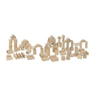 Heros 100 Piece Natural Wooden Blocks Set