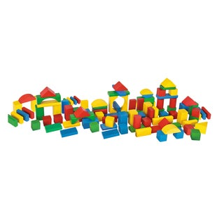 Heros 100 Piece Color Wooden Blocks Set