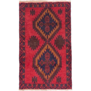 eCarpetGallery Hand-knotted Kazak Red Wool Rug (2'11 x 4'9)
