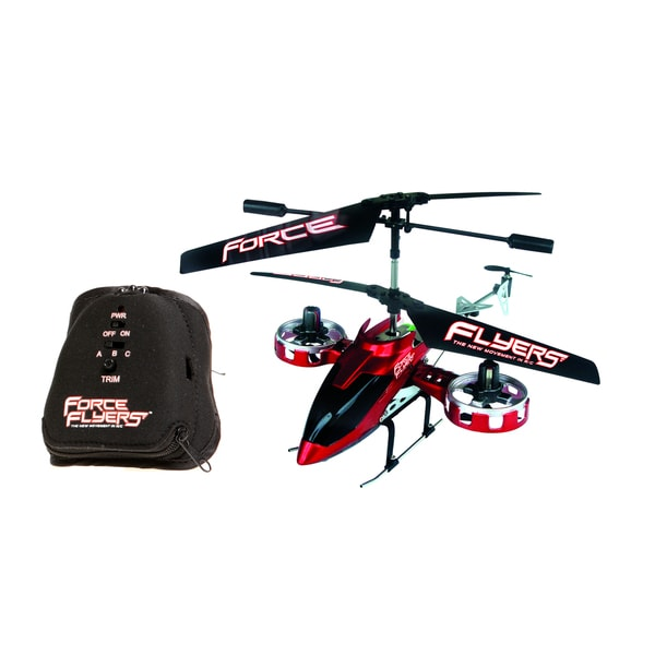 Raptor 4 Channel Motion Control Red Helicopter