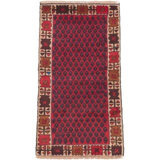 eCarpetGallery Hand-knotted Herati Red Wool Rug (2'8x4'10)