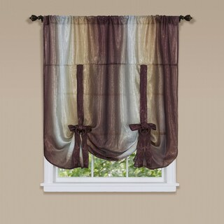Ombre Window Curtain Tie Up Shade in Chocolate (As Is Item)