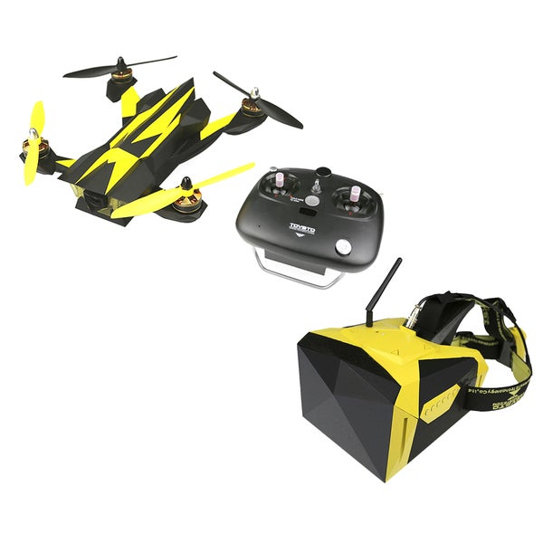 Falcon 250 Racing Drone and 5.8Ghz Hi Res Goggles