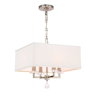 Crystorama Paxton Collection 4-light Polished Nickel Mini Chandelier