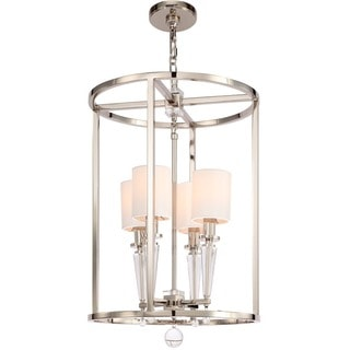 Crystorama Paxton Collection 4-light Polished Nickel Chandelier