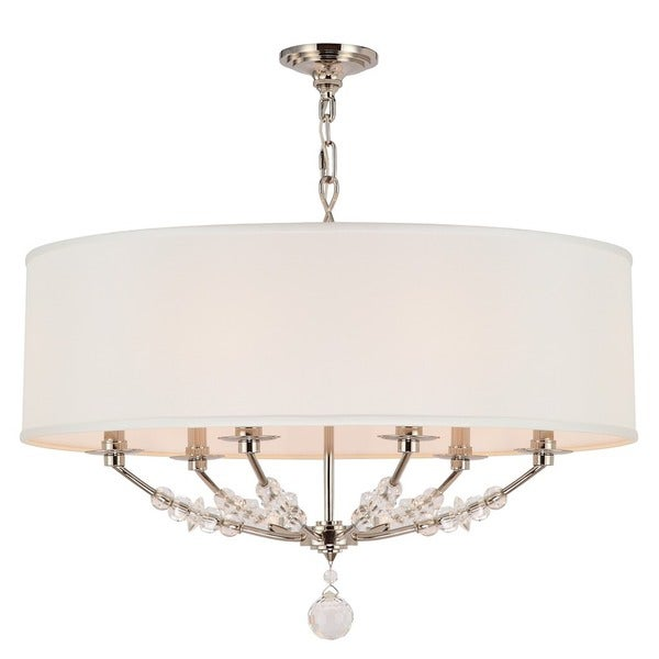 Crystorama Mirage Collection 6 Light Polished Nickel Chandelier Free Shipping Today