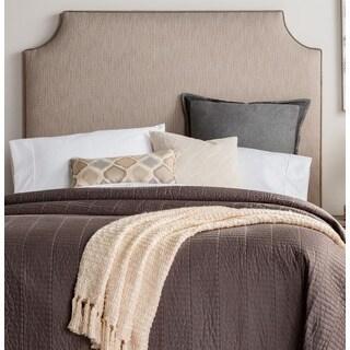 Humble + Haute Raleigh Tall Textured Grey Velvet Corded Upholstered Headboard