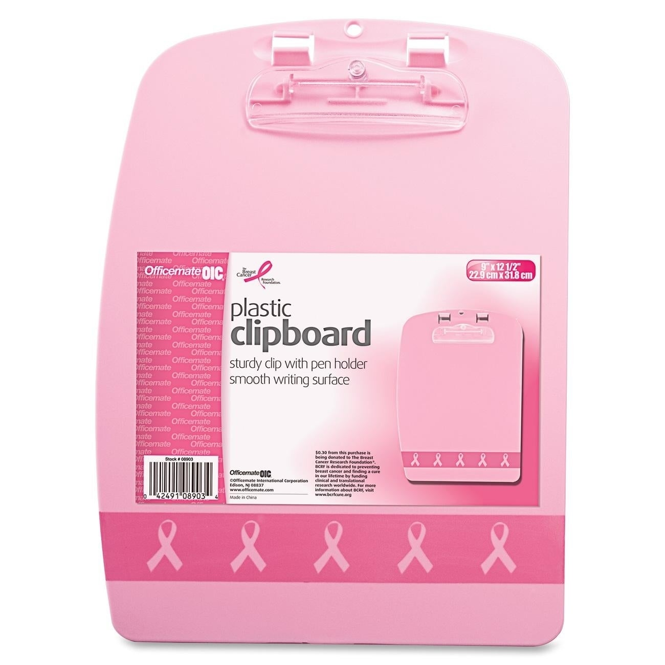 Officemate OIC Breast Cancer Awareness Designer Clipboard...