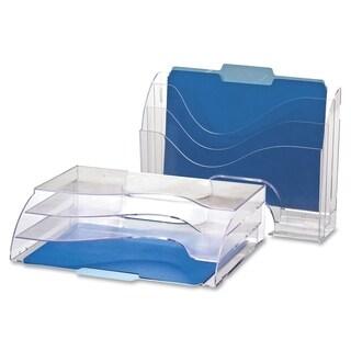 OIC Clear Wave 2 Way Desktop Organizer   (1/Each)