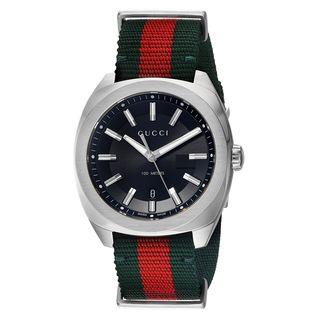 Gucci Men's YA142305 'GG2570' Red and Green Nylon Watch