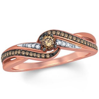 10k Rose Gold 1/4ct TDW Diamond Promise Ring