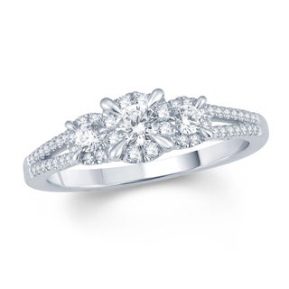 10k White Gold 5/8ct TDW Diamond Ring