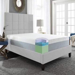 Sleep Sync 10-inch Cal King-size Memory Foam Mattress - White