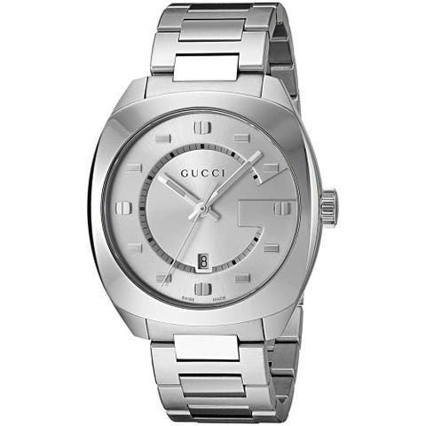 Gucci Men's YA142308 'GG2570' Stainless Steel Watch
