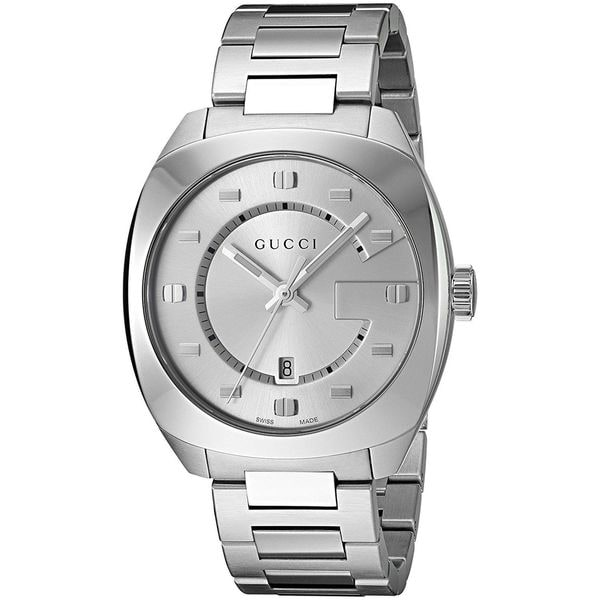 9c9c39b07d9 Shop Gucci Men s YA142308  GG2570  Stainless Steel Watch - Free Shipping  Today - Overstock - 13161570