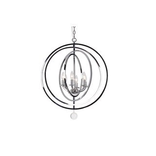 Crystorama Transitional 6-light Chrome Pendant/Chandelier