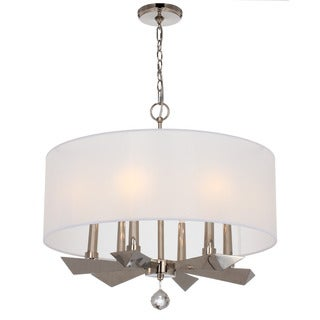 Crystorama Palmer Collection 6-light Polished Nickel Chandelier