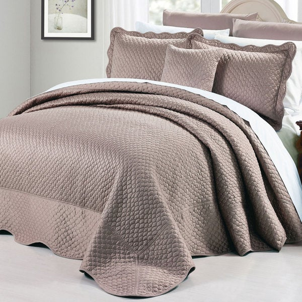 Bnf Home Oversized Matte Satin 4 Piece Bedspread Set