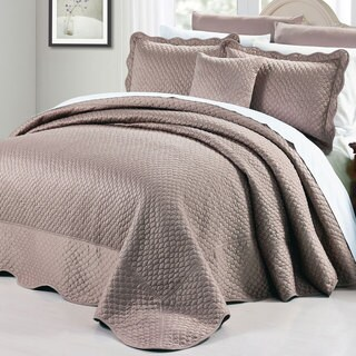 BNF Home Oversized Matte Satin 4-piece Bedspread Set