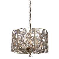 Crystorama Sterling Collection 6-light Distressed Twilight Chandelier