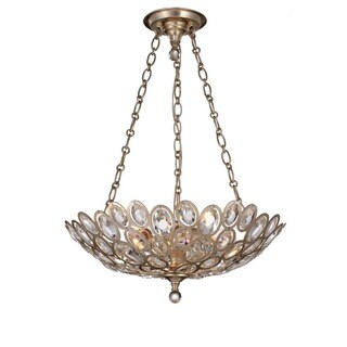 Crystorama Sterling Collection 3-light Distressed Twilight Chandelier/Flush Mount