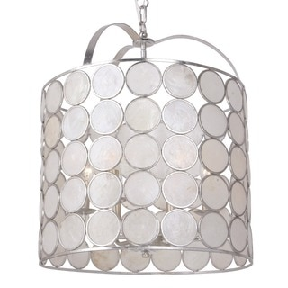 Crystorama Coco Collection 6-light Antique Silver Pendant