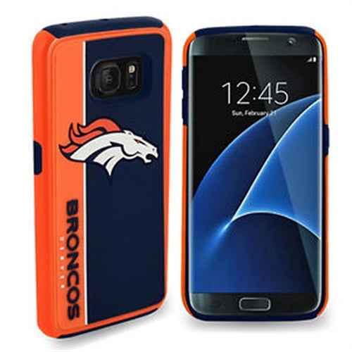 Forever Collectibles Denver Broncos Dual Hybrid BOLD Series Case for Samsung Galaxy S7