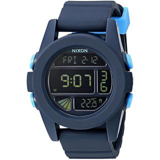 Nixon Men's A197-2224 'Digital' Digital Blue Silicone Watch