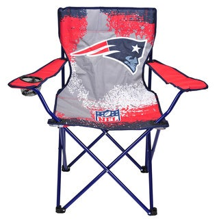 New England Patriots Multicolored Canvas/Metal Camp Chair