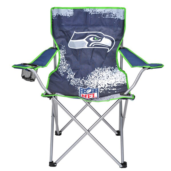 Seattle Seahawks Blue Metal and Canvas Camp Chair