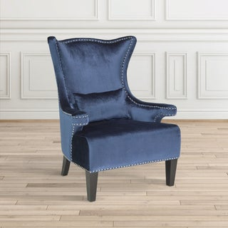 Home Gear Royal Wood and Velvet Nail Head-trimmed Chair (2 options available)