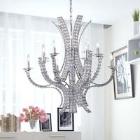 Zafirah 12-light Crystal 35-inch Chrome Chandelier