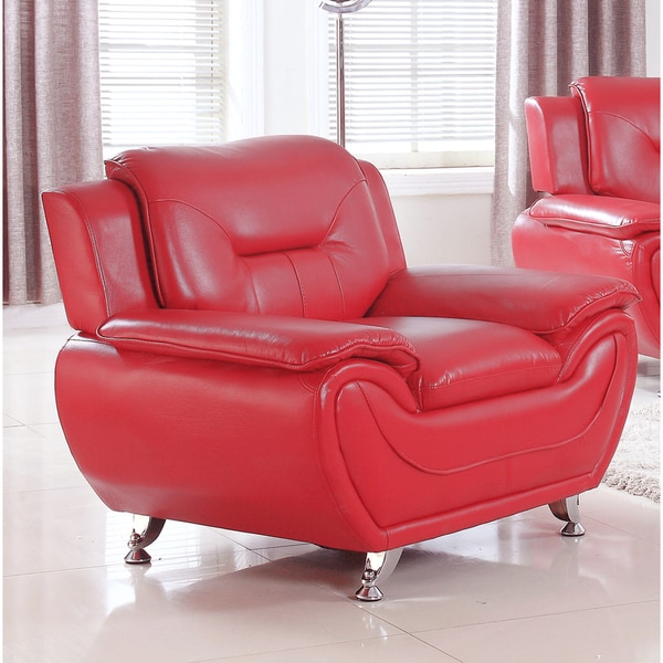 Alice Modern Faux-leather Lounge Arm Chair - Free Shipping Today ...